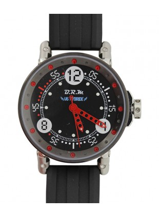 BRM RACING WATCH AUTO 44m 100m WR AUTO ROTOR QUARTZ TIMING HYBRID V6-44-HB-DL-AR
