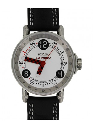BRM RACING WATCH AUTO 44m 100m WR AUTO ROTOR QUARTZ TIMING HYBRID V6-44-HB-BG-CG-ADAMR