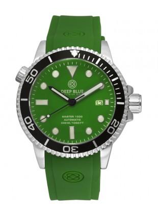 Deep Blue MASTER DIVER 1000 Auto dive watch Black bezel Green Strap Green Dial