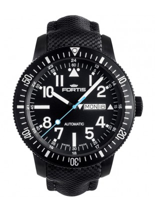 Fortis Aquatis DIVER BLACK 42mm Swiss Automatic watch PVD Case 200m WR 647.18.41