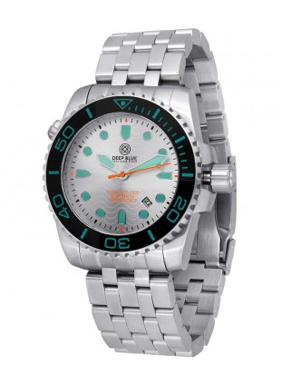 Deep Blue Diver Pro 1000m Auto diving watch S/Steel case Ceramic bezel Silv dial