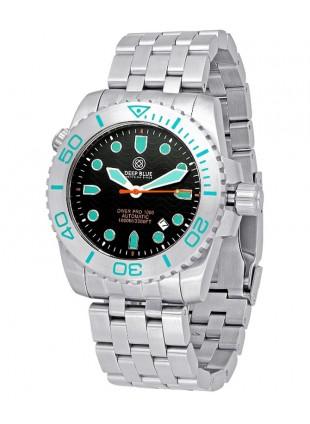 Deep Blue Diver Pro 1000m Auto diving watch S/Steel case/bezel Black dial
