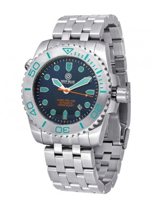 Deep Blue Diver Pro 1000m Auto diving watch S/Steel case/bezel Blue dial