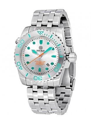Deep Blue Diver Pro 1000m Auto diving watch S/Steel case/bezel Silver dial