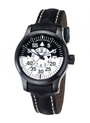 FORTIS B42 FLIEGER BLACK COCKPIT GMT AUTOMATIC WATCH DATE LIMITED EDITION 672.18.11 L01