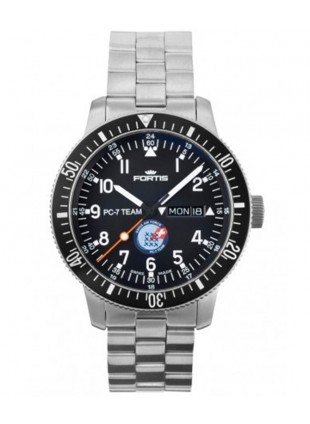 FORTIS PC-7 Team Edition Automatic Day/Date watch S/Steel Bracelet 647.10.91 M