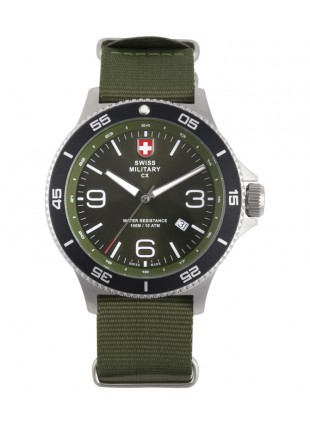 CX Swiss Military HUMVEE Infantry Watch Swiss Quartz Green Strap Green Dial 2897