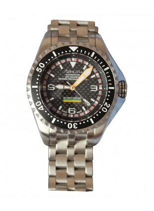 AZIMUTH EXTREME-1 SEA HUM DILANGO RACING WATCH BLACK DIAL S/STEEL