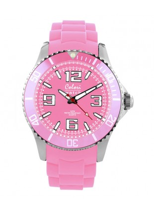 COLORI COOL STEEL MIYOTA QUARTZ STAINLESS STEEL LUMINOUS DIAL
