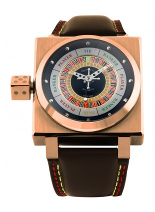 AZIMUTH King Casino Gold Finger Swiss Watch 3D Roulette/Baccarat Game Gold case