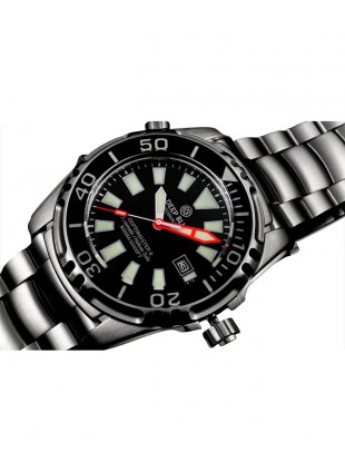DEEP BLUE DEPTHMASTER II 3000 WATCH AUTO 49mm DATE 28800 bph 3000m BLACK