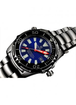 DEEP BLUE DEPTHMASTER 3000 II WATCH AUTO 49mm DATE 28800 bph 3000m BLUE