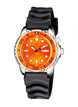 Deep Blue PROTAC 1000m Automatic Diver watch Seiko movt. 45mm Orange bez & dial