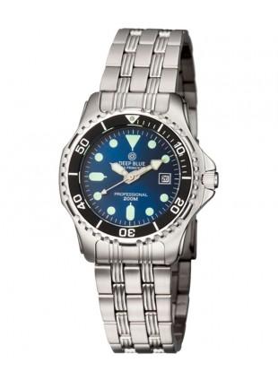 Deep Blue SEA PRINCESS Ladies watch 200m WR 34mm SS case/bracelet Blue dial