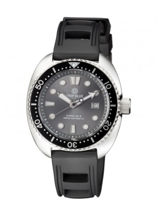 Deep Blue MILITARY DIVER 300 Swiss Automatic watch 44mm Black Bezel Grey dial