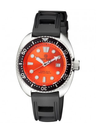 Deep Blue MILITARY DIVER 300 Swiss Automatic watch 44mm Black Bezel Orange dial
