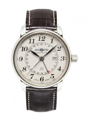 ZEPPELIN LZ127 Swiss quartz GMT watch GMT Dual time Beige dial 5ATM 42mm 7642-5