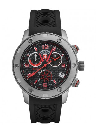 CX Swiss Military RALLYE GMT 44mm Swiss Chrono watch GMT 20ATM Black dial 2746