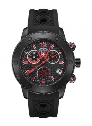 CX Swiss Military RALLYE GMT NERO 44mm DLC Case Chrono watch GMT Black dial 2751