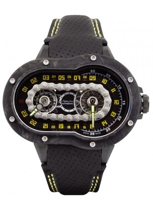 Azimuth CRAZY RIDER auto watch Motorcycle engine design Engine block CARBON case