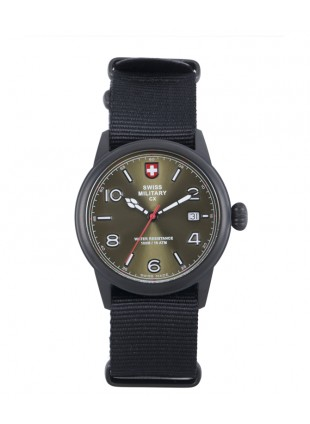 CX Swiss Military SPITFIRE Vintage Watch Swiss Quartz Date 10ATM Green Dial 2869
