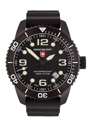 CX Swiss Military MARLIN SCUBA NERO Swiss watch 20ATM Sapphire Black dial 2706