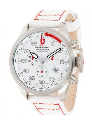 CX Swiss Military HAWK SNOWPATROL Chronograph Swiss watch 20ATM White dial 2725