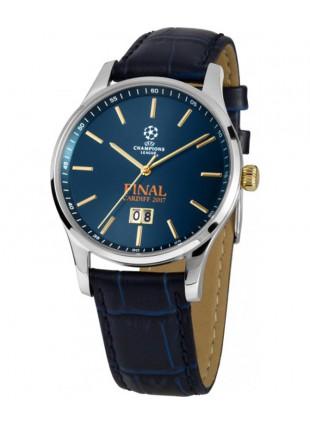 JACQUES LEMANS Sports Watch UEFA CHAMPIONS LEAGUE FINAL 17 40mm 10ATM Blu Dial