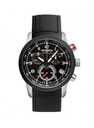 ZEPPELIN Night Cruise German watch Swiss Quartz Chrono 1/10s Black dial 7292-2
