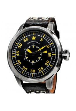 AZIMUTH MILITARE-1 B-UHR INNER HOUR WATCH UNITAS 6497-1 HAND WIND BUFFALO STRAP
