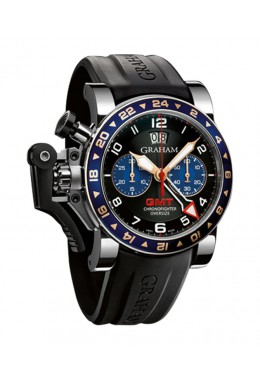 GRAHAM CHRONOFIGHTER OVERSIZE GMT 47MM WR 100M 48HR POWER RES 2OVGS.B26A.K10S