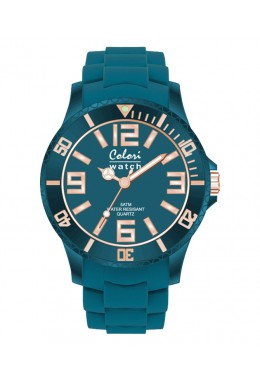COLORI CLASSIC CHIC WATCH 50M WR JAPAN QUARTZ OCEAN BLUE 40mm DIAMETER 5-COL134