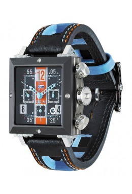 BRM-MANUFACTURE RACING WATCH SD37 GULF BLACK PVD TITANIUM CASE LIMITED 200pcs