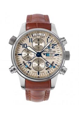 Fortis Aviatis Daybreaker Recon Chronograph Alarm & GMT function 703.20.92 LC05