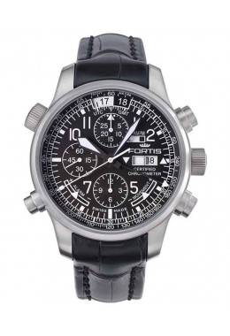 Fortis Aviatis Daybreaker Stealth Chronograph Alarm & GMT function 703.10.11 L01