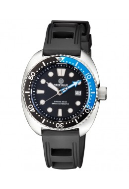 Deep Blue MILITARY DIVER 300 Swiss Automatic watch 44mm Black Bezel Blk/Blu dial