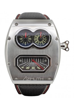 Azimuth SP-1 Mechanique MR ROBOTO MKII MR2 auto watch GMT Retro min. Steel case