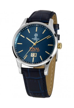 JACQUES LEMANS Sports Watch UEFA CHAMPIONS LEAGUE FINAL 17 40mm 10ATM Blu Dial