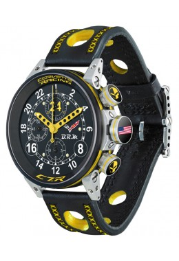 Genuine BRM Watch Corvette Auto Chrono Ltd. Edn. 24 pcs Black dial V12-44-COR-03